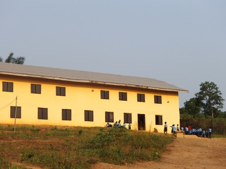 The Bible College the primary school has been using over the last year. This is first building George and V2H helped start in 2003