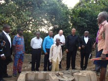 Dedication of the health clinic with other sponsors from Africa.