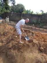 filling in dirt that was dug from the wrong place