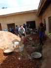 mixing concrete for the primary school floor