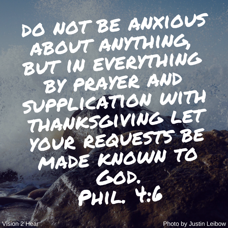 do not be anxious about anything, but in