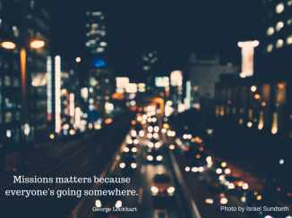 Missions matters because everyone's